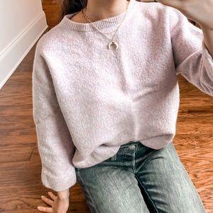 j.crew// 100% merino wool boiled sweatshirt purple